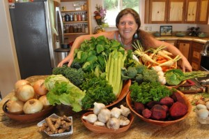 Donna with fresh produce